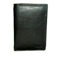 Leather Trifold Wallet in Black