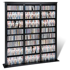 Floor Media Triple Width Barrister Multimedia Storage Rack
