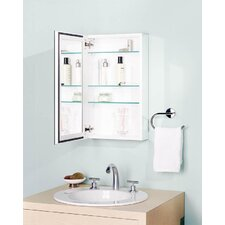 "Gallery 24"" x 14"" Recessed/Surface Mount Medicine Cabinet in White"