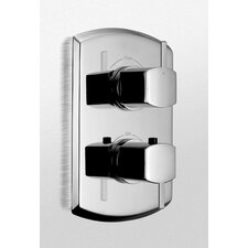 Soirée Thermostatic Mixing Valve Trim with Dual Volume Control and Lever Handles