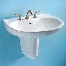 Prominence Wall Mount Bathroom Sink Set with SanaGloss Glazing