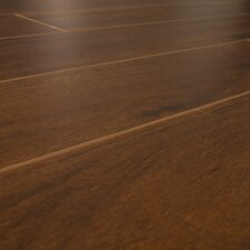 SAMPLE - 12 mm Narrow Board Laminate with Underlayment in Caribbean Walnut