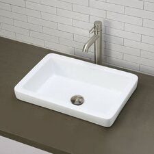 Classically Redefined Semi-Recessed Bathroom Sink
