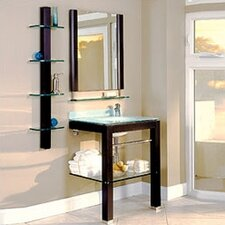 "Bathroom Furniture 27.5"" Wall-Mounted Vanity Set"