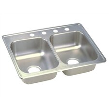 "Dayton 25"" x 19"" Top Mount Double Kitchen Sink"