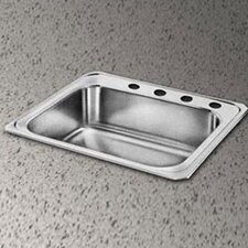 "Celebrity 25"" x 21.25"" 3 Hole Self-Rimming Kitchen Sink"