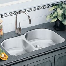 "31.25"" x 20"" Lustertone Harmony Double Bowl Kitchen Sink"