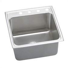 "22"" x 22"" x 10.13"" Lustertone Gourmet Single Bowl Kitchen Sink"