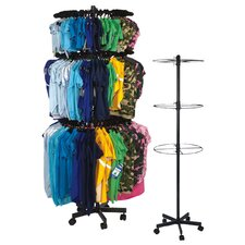 Three Tier Apparel Rounder Pet Apparel Display