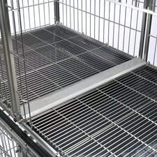 Modular Pet Cage Tray Connector in Stainless Steel