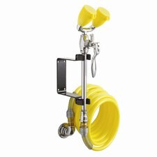 Eyesaver Wall Mounted Drench Hose / Eyewash with Aerated Spray and Recoiling Hose