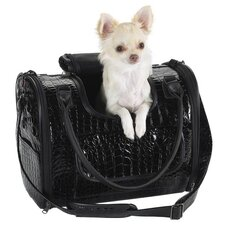 Croco Small Dog Carrier in Black