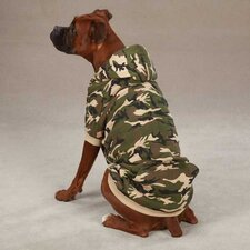 Camo Fleece Lined Dog Hoodie