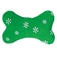 Small Blizzard Bone Dog Toy in Green