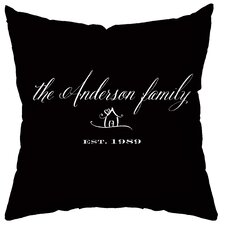 Personalized Established Poly Cotton Throw Pillow