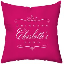 Personalized Royal Treatment Poly Cotton Throw Pillow