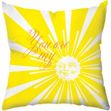 Sunshine Poly Cotton Throw Pillow