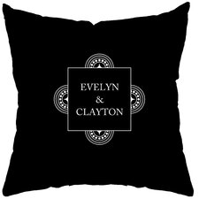Personalized Balance Poly Cotton Throw Pillow