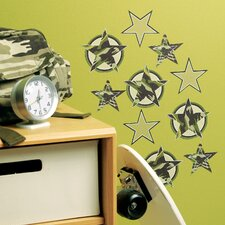 Camo Stars Wallpaper Cutouts