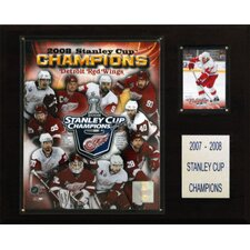NHL Red Wings 2007-08 Stanley Cup Champions Plaque