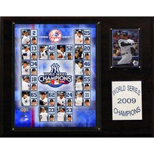 MLB Yankees 2009 World Series Champions Plaque