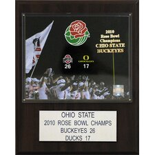 NCAA Football Ohio State 2010 Rose Bowl Champions Plaque