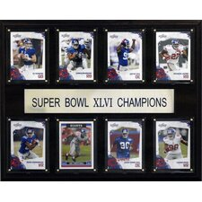 NFL New York Giants Super Bowl XLVI 8 Card Champions Plaque