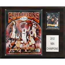 NBA Miami Heat Champions Plaque