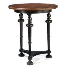Two Tone Bistro Table in Antique Black and Heirloom Wood