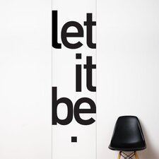 Unik Let it be Wall Decal