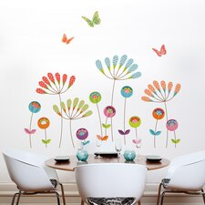 XXL Colorful Pompoms Wall Sticker