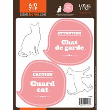 Signal Guard Cat Wall Decal