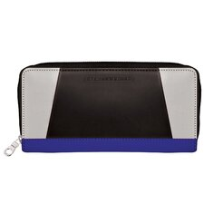Color Block Zipper Wallet