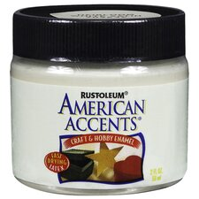 American Accents® Heirloom White Craft and Hobby Brush Enamel Paint