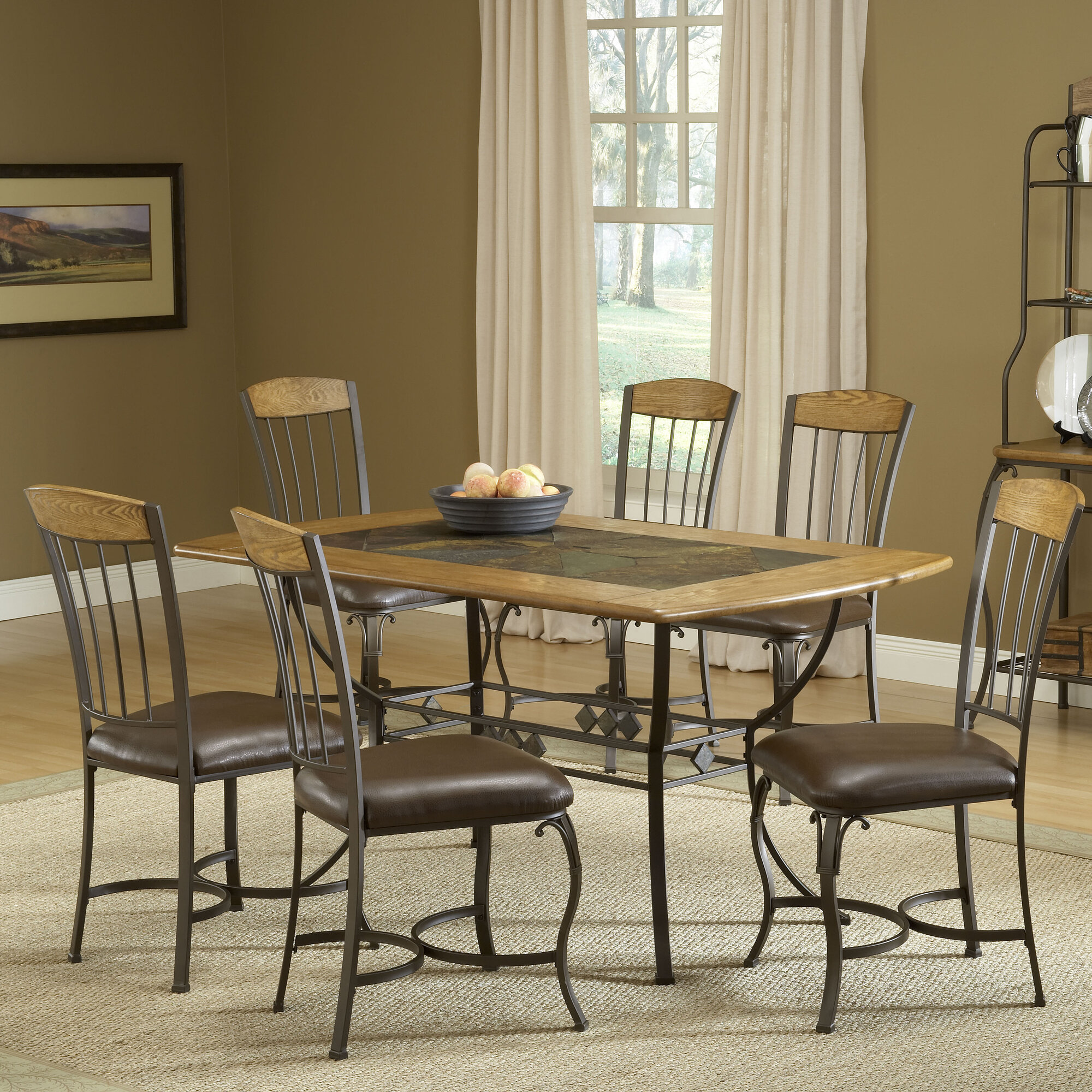 Easy Financing Hillsdale Lakeview 7 Piece Dining Set