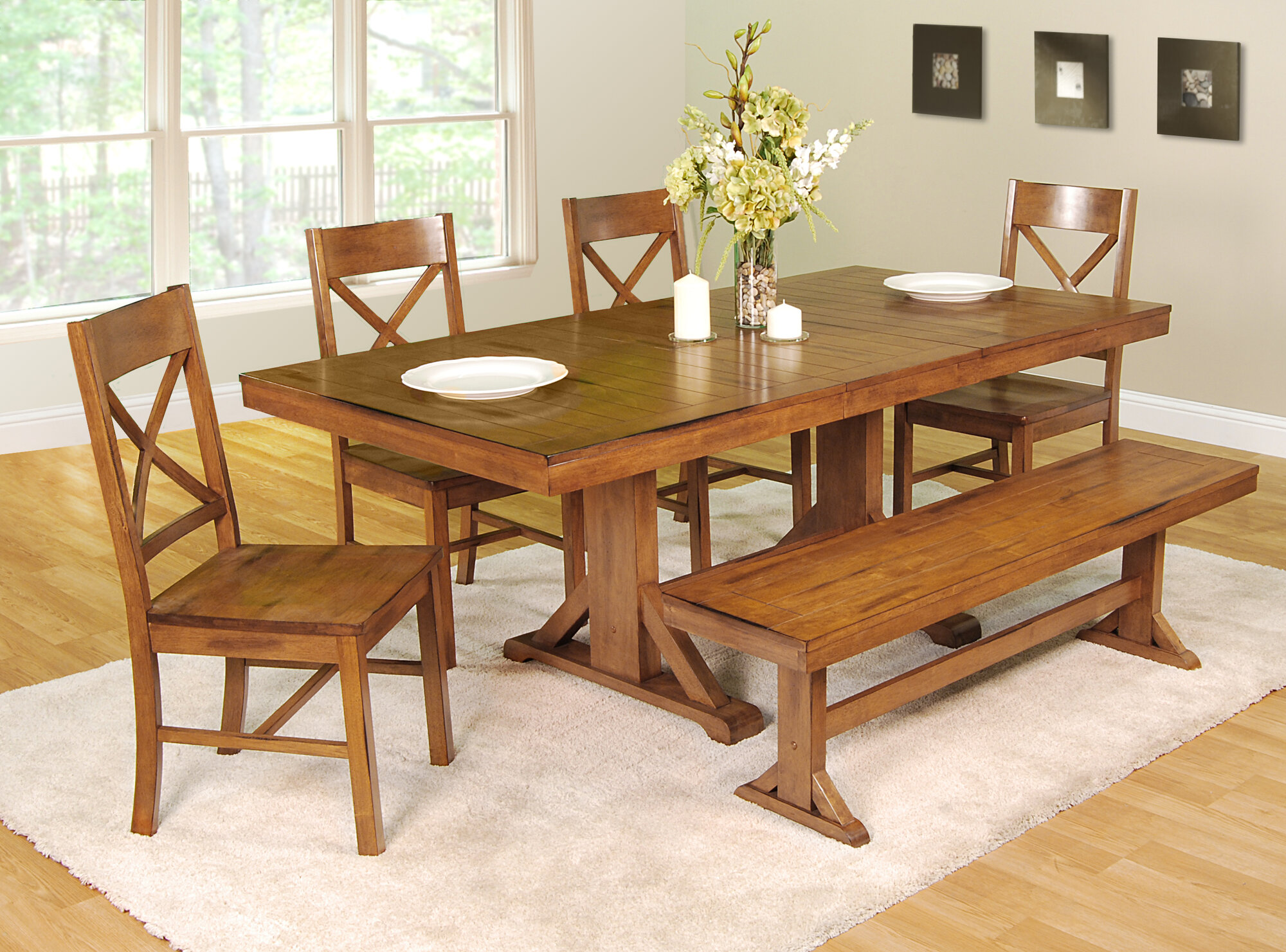 Poor Credit Home Loft Concept Millwright 6 Piece Dining Set