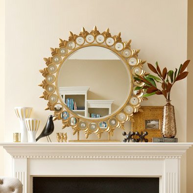 gold mantel
