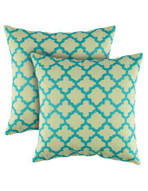 quatrefoil pillows
