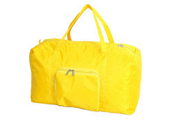 yellow duffle bag