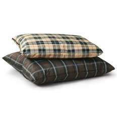plaid dog bed
