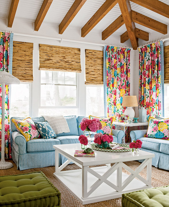 Colorful cottage decor house tour wayfair for Colorful living room ideas with pictures