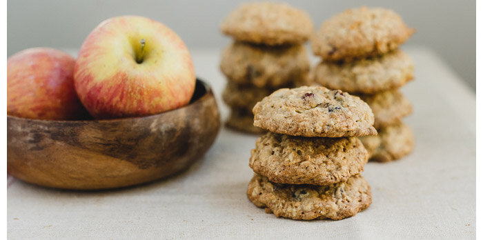 cran apple oatmeal cookies