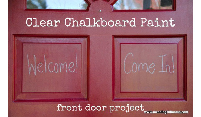 front door chalkboard paint diy