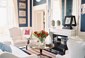 Preppy Colorful Living Room